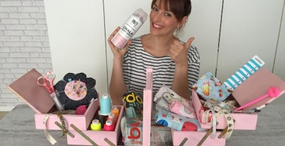 DIY con CHALK PAINT: costurero renovado total pink