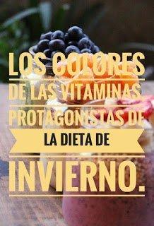 Los colores de las vitaminas, protagonistas de la dieta de invierno.