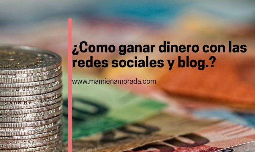 Gana dinero con las redes sociales y blog.