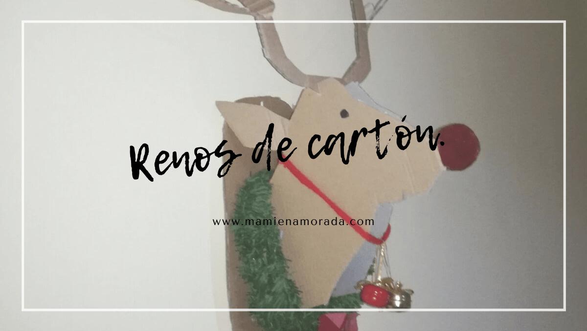 Reno de cartón. 🦌 |Te enseño como hacer varios tipos de ciervos para decorar tu casa en navidad, incl