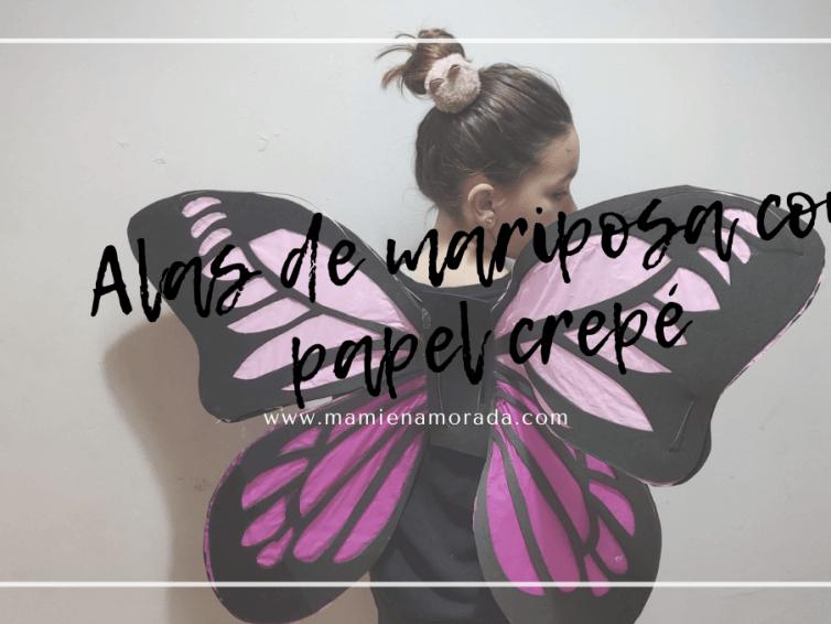 Alas de mariposa con papel crepé