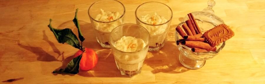 riz au lait clémentine spéculoos