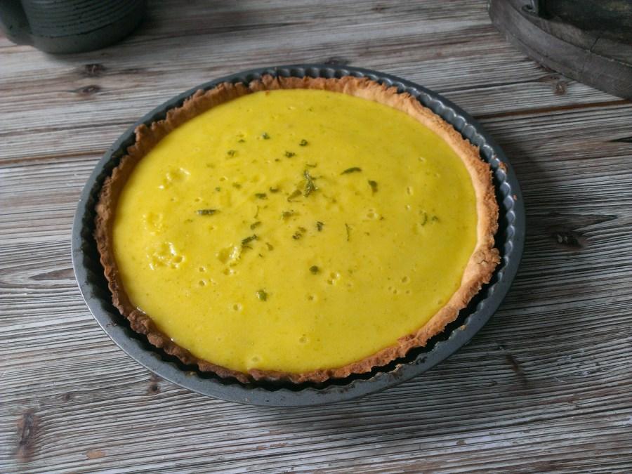 une tarte au citron vert customisée pour retrouver le goût d'un mojito.