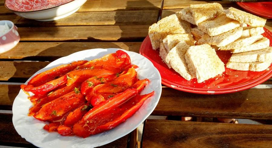 poivrons rouges rôtis et marinés comme en Italie