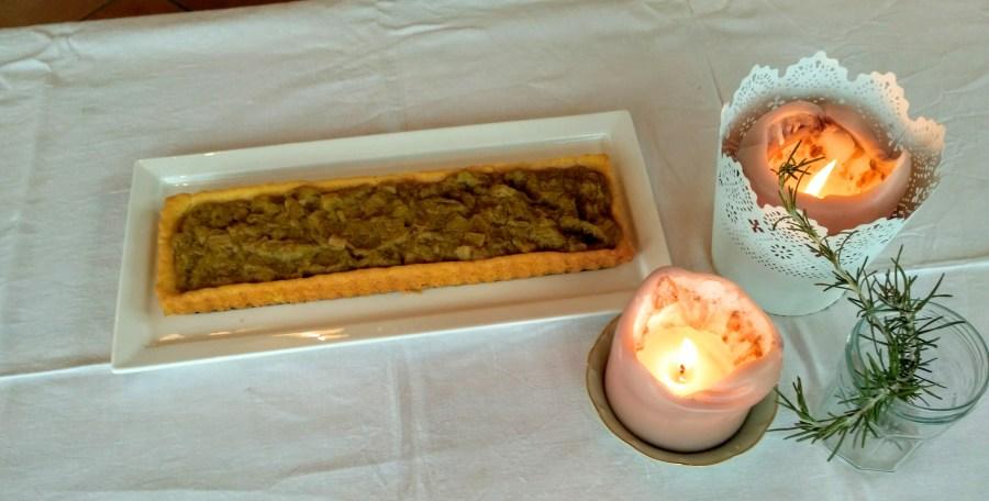 tarte à la rhubarbe pâte façon sablé breton
