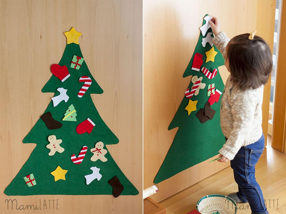 Arbol de navidad diy inspiraci n montessori enganches de for Arboles de navidad caseros y originales