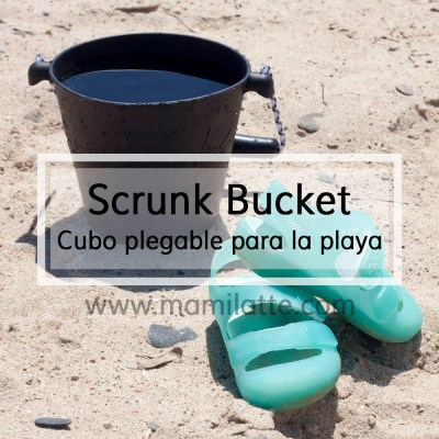 Scrunchy Bucket: Cubo plegable para la playa