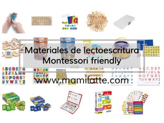 Materiales de lectoescritura. Montessori friendly.