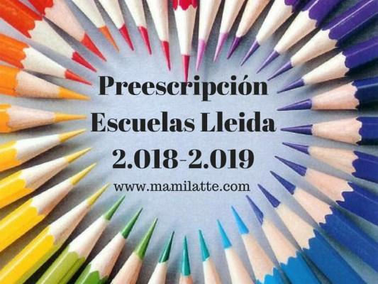 Elección de colegios en Lleida: curso 2018 – 2019