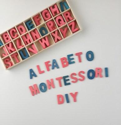 Alfabeto Montessori DIY