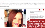 Joscelyn Ramos Campbell is Selected by Latina Magazine as a Blogger to Follow and Must Know in 2014