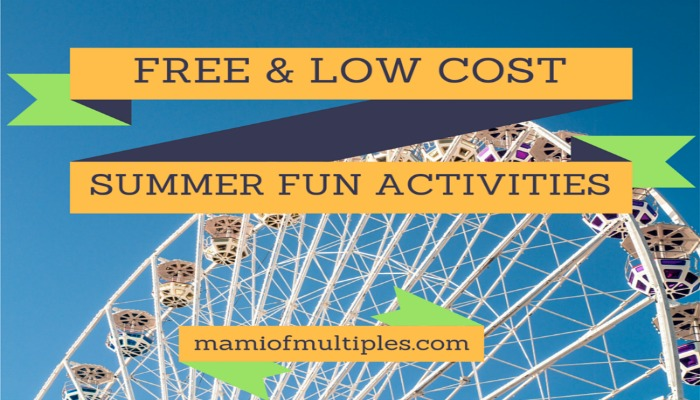 Free and Low Cost Summer Fun Activities