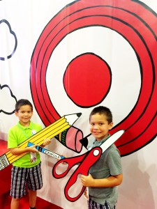 Twins and School Supplies at Target