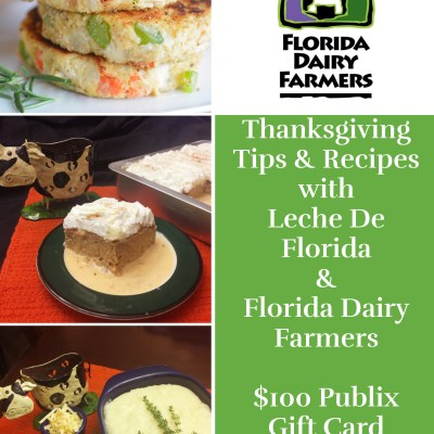Thanksgiving Day Tips and Recipes with Leche De Florida {+ $100 Publix Gift Card Giveaway}
