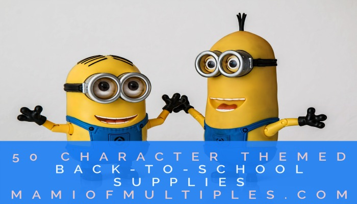 50 Character Themed Back-To-School Supplies
