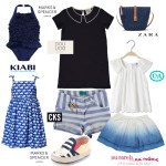 Moda infantil en azul marino