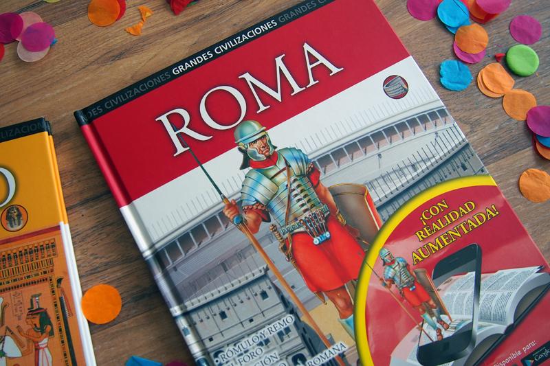 Libros con realidad aumentada para conocer las grandes civilizaciones