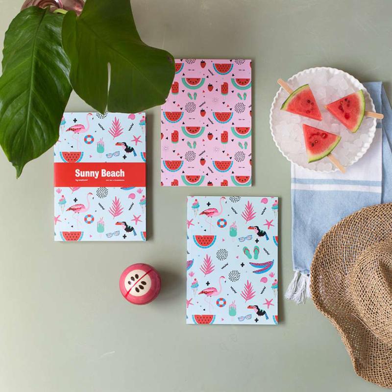 set-cuadernos-sunny-beach