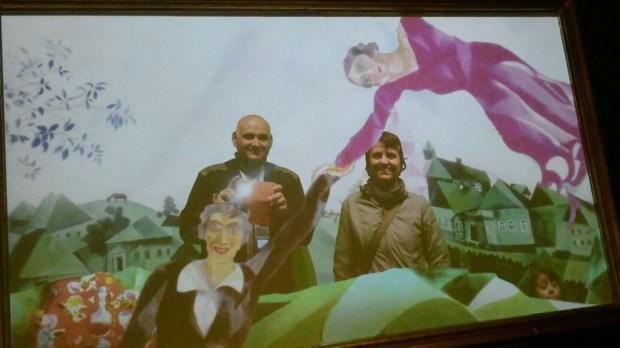 Noi tre in uno Chagall