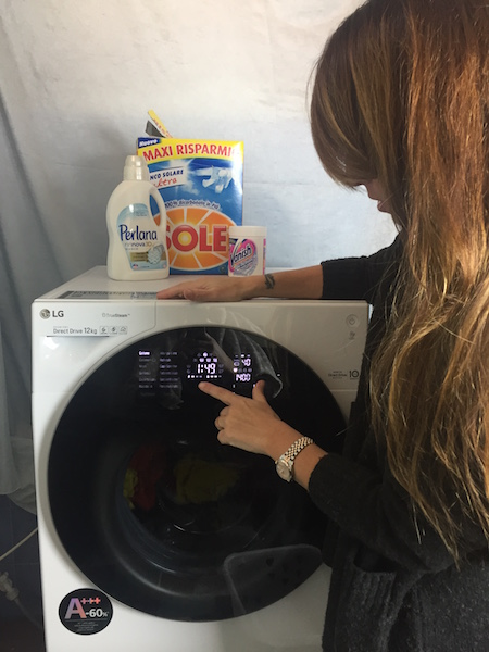 la prima lavatrice con due cestelli