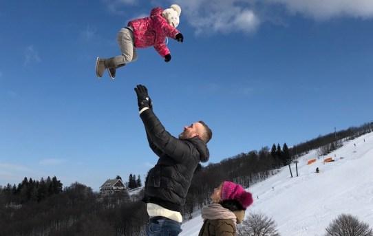 papà e montagna