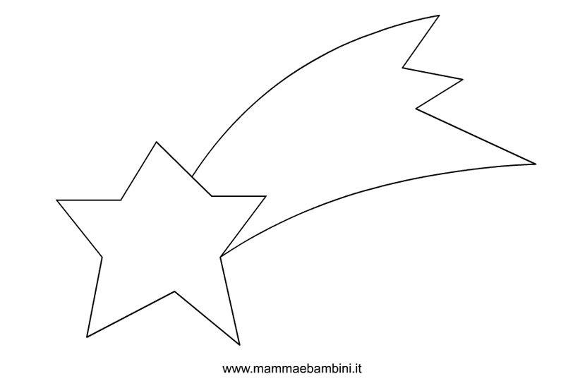 Stella Cometa Di Natale Disegno.Disegno Stella Cometa Da Colorare