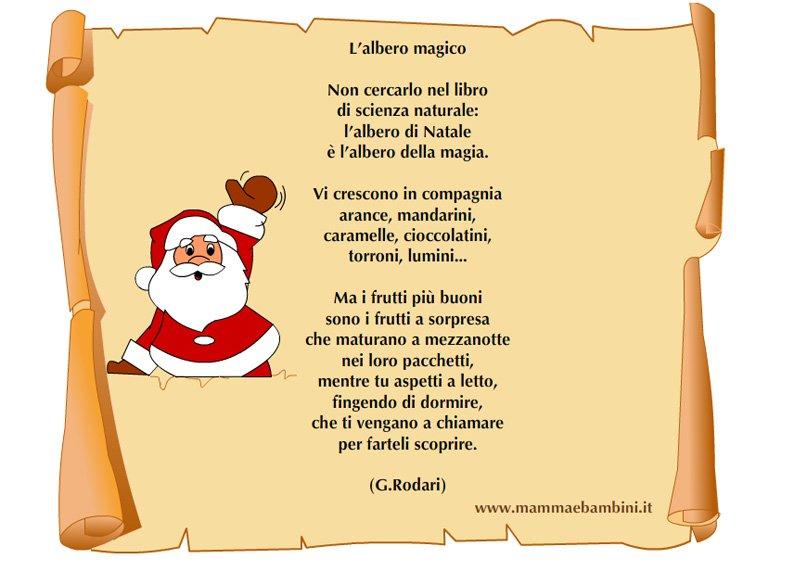 Le poesie non ti bastano? Poesia Sul Natale L Albero Magico Mamma E Bambini
