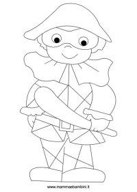 Arlecchino: disegni Carnevale da colorare  Mamma e Bambini