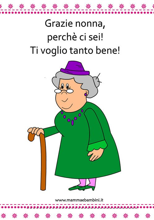 Amato disegni da colorare festa dei nonni | MatiteColorate JR77