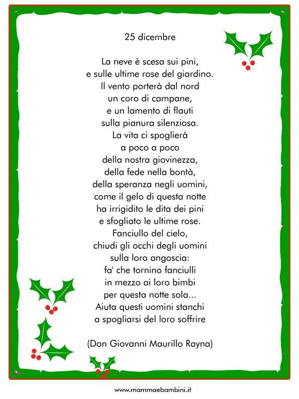 Le più belle poesie di natale; Poesia Sul Natale 25 Dicembre Mamma E Bambini