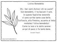 Lulivo Benedetto: poesia con ramo ulivo da colorare ...