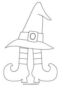 Disegno da colorare per Halloween: cappello strega  Mamma