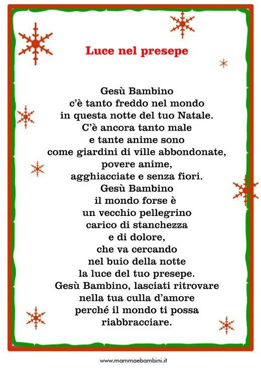 Abbiamo raccolto poesie adatte ai bambini, alcune più brevi. Poesia Natale Luce Nel Presepe Mamma E Bambini