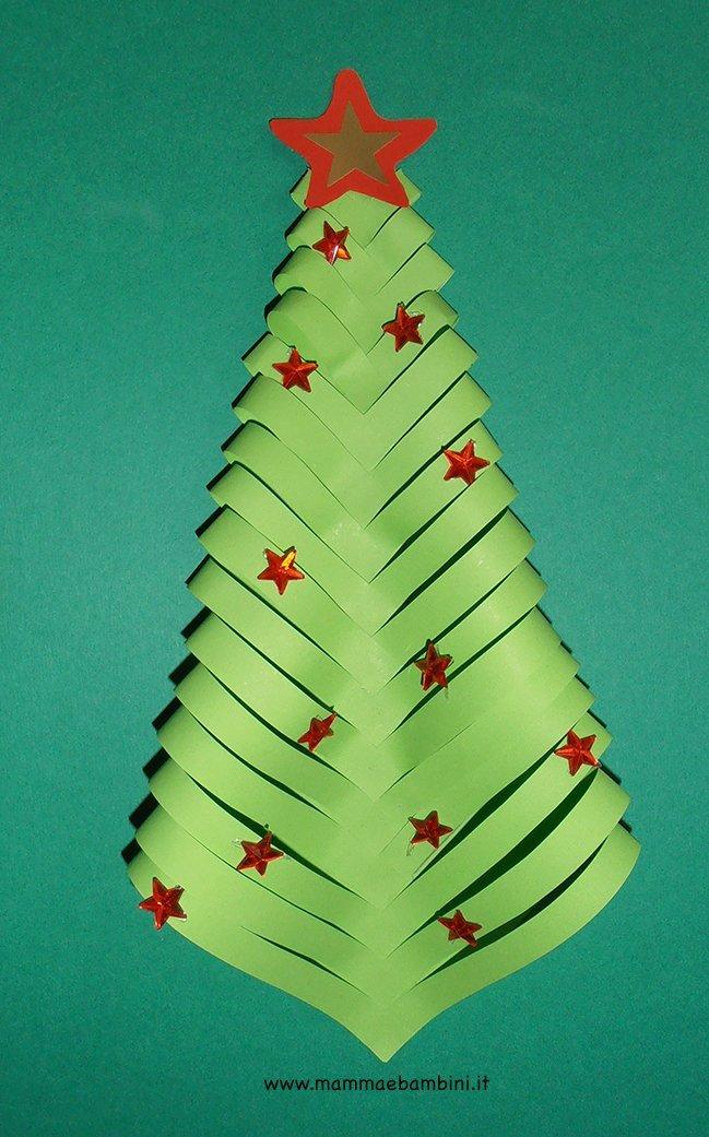Addobbi per Natale con albero di carta  Mamma e Bambini