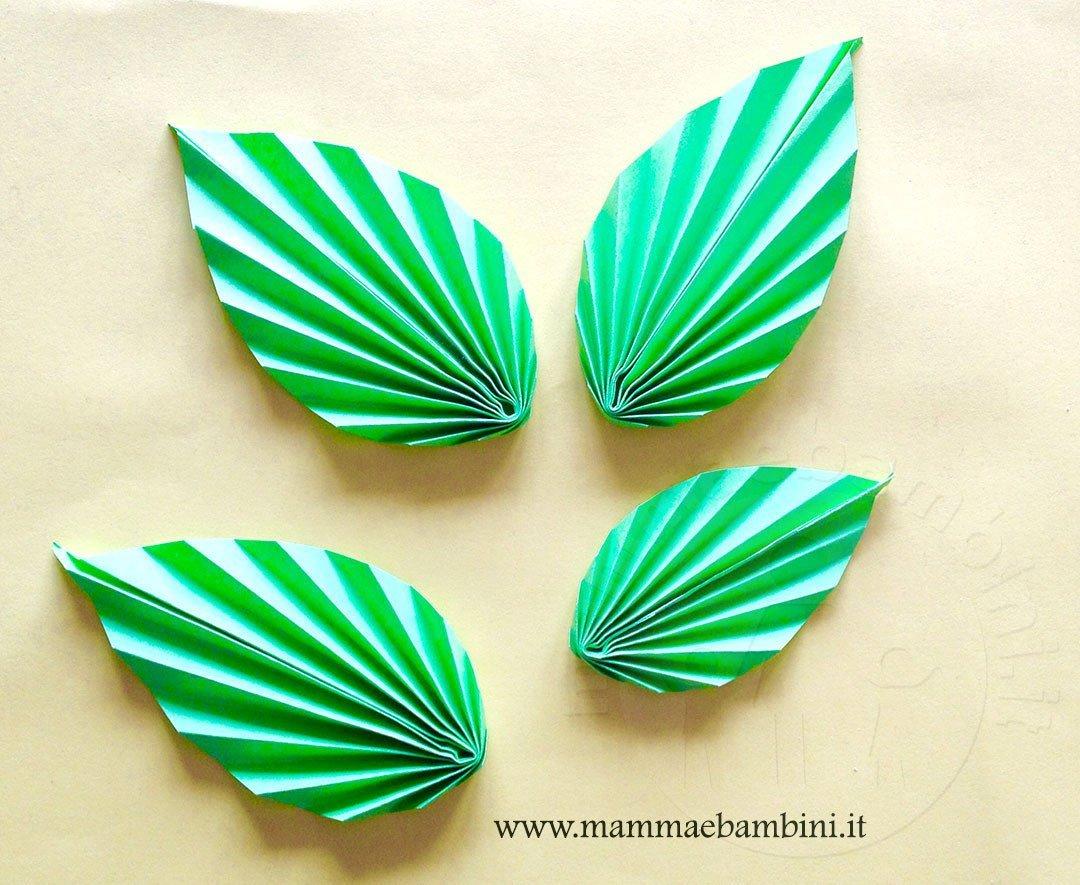 Come realizzare una foglia origami  Mamma e Bambini