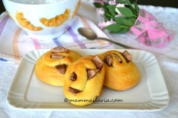 girelle brioche con cioccolato