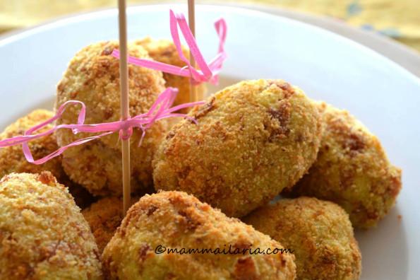 crocchette di patate con prosciutto