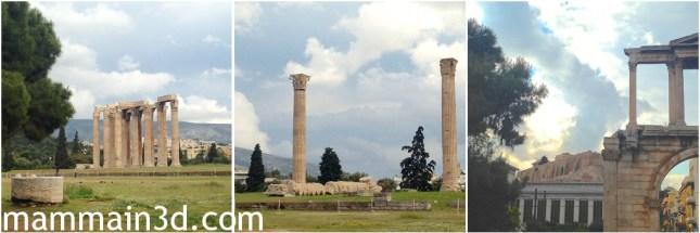 Atene: tempio di Zeus Olimpio e arco di Adriano