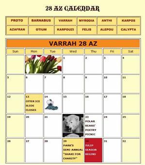 Original Park Calendar