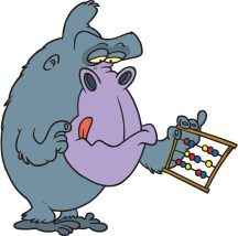 Gorilla with abacus