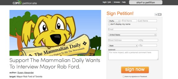 Sign our Petition!
