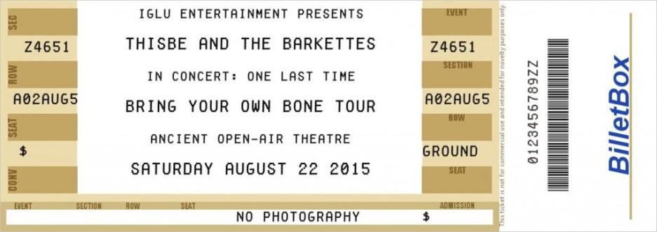 BARKETTES final ticket
