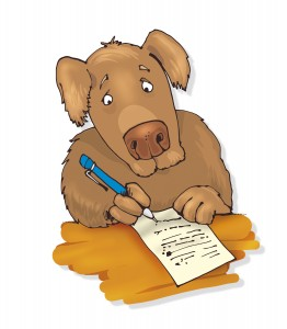 Dog submitting form for Archonship