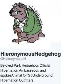 Hieronymous twitter account