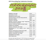 Full schedule of events released for 2019 Groundhog Day celebrations