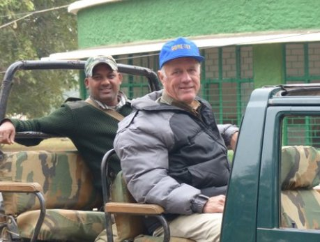 KD and Bill in our Gypsy, Bandhavgarh