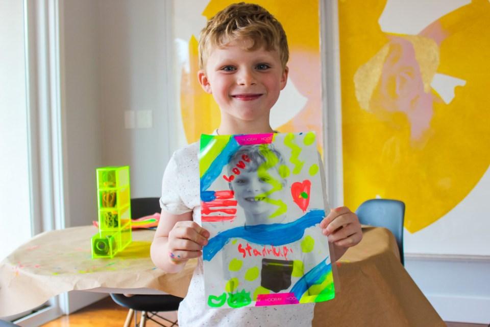 Pop art lavoretto bambini