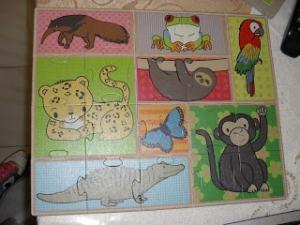 Il puzzlle che raffigura gli animali