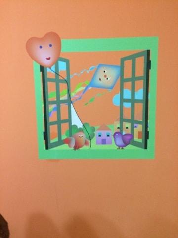 decorare la cameretta...una finestra sul mondo