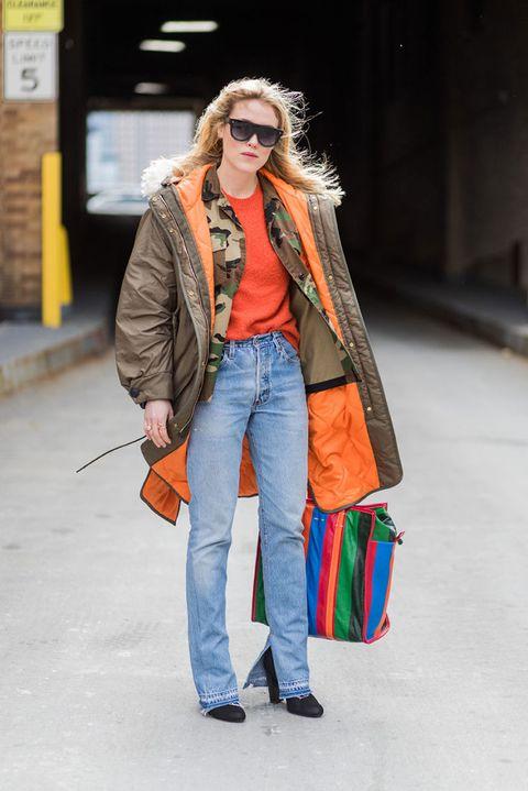 arancione nella moda